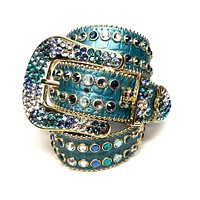 b.b. Simon Sea Gold Fully Loaded Swarovski Crystal Belt