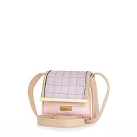 River Island Girl purple lilac and pink cross body bag