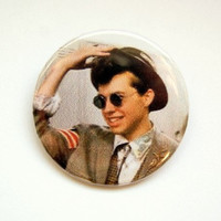 Pretty in pink -duckie- button badge or magnet 1.5 Inch