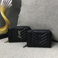 YSL Hot Sale Classic Women's Zipper Small Wallet, Coin Purse, Key Case, Ladies Handbag