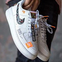 "Nike Air Force 1 Low ""Just Do It"" low-top flat sneakers shoes"