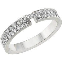 CHAUMET - Liens XS 18ct white-gold and diamond wedding band | Selfridges.com