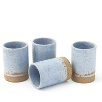 Lavender Blue Chalk Mugs