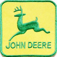 John Deere Tractor Farm Logo T-shirt Jacket Patch Sew Iron on Embroidered Sign Badge