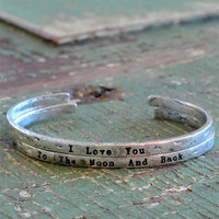 """Moon & Back"" Cast Iron Bracelet"