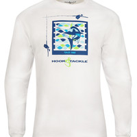 Men's Marlin Tag L/S UV Fishing T-Shirt