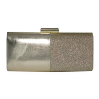 Faxane Metallic Sparkle Clutch | Lord and Taylor