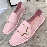 Bally Women Fashion Simple Casual Loafers  Shoes
