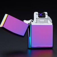 Rechargeable Flameless Electric Double Plasma Windproof Zippo Style Lighter