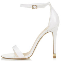 RUBY Strappy High Sandals - White