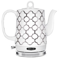Bella Housewares | 1.2L Electric Ceramic Kettle - Clover Foil in Tea Kettles and Coffee and Tea and kitchen appliances, colorful appliances, toasters, juicers, blenders