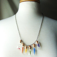 Rainbow Necklace Nature Findings in Different Style by aptoArt