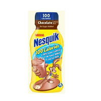 Nestle Nesquik 100 Calorie Chocolate Flavor Milk 8 oz Bottles-15 Case