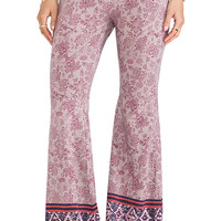 Free People Flare Pull on Pant in Pink