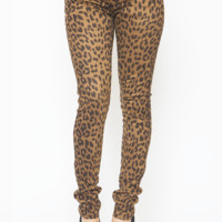 CHEETAH STRETCH JEANS