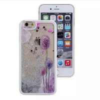 Dandelion colored sand mobile phone case for iphone 5c 5 5s SE 6 6s 6plus 6s plus + Nice gift box!