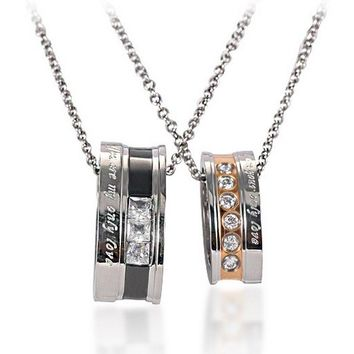 Engravable Matching His and Hers Jewelry Set for 2