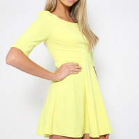 Citrus Summer Dress - Yellow