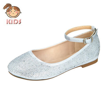 Silver Simmer Dress Flat by Blossom Girl {Silver}