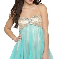 Two Tone Short Prom Dress with Sweetheart Neckline and Tulle Skirt