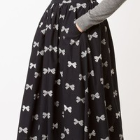 Chinti And Parker Bow Print A-line Skirt - Forty Five Ten - Farfetch.com