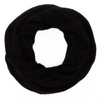 Black Sweater Knit Cowl Scarf by Charlotte Russe