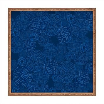 Camilla Foss Circles In Blue I Square Tray
