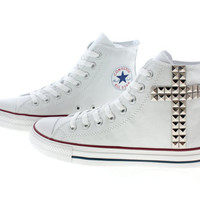 Studded Converse Silver Cross pattern studs with by customduo