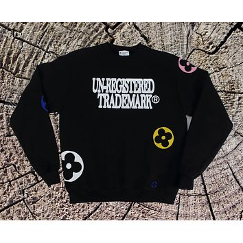 Black Crewneck Monogram Sweatshirt x Unregistered Trademark x Champion Brand