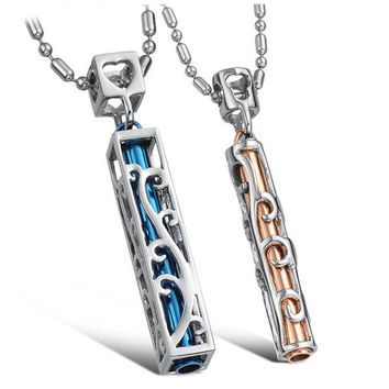 Gullei Trustmart : Hollow modern style matching beautiful couple necklace set [GTMCN019] - $18.00-Couple Gifts, Cool USB Drives, Stylish iPad/iPod/iPhone Cases & Home Decor Ideas