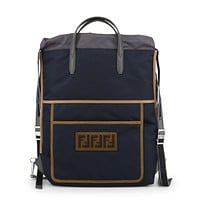 Fendi - BLUE DRAWSTRING BACKPACK