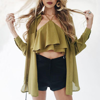 Stylish Strapless Chiffon Off Shoulder Summer Vest