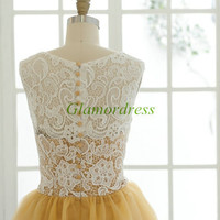 short ivory lace gold tulle bridesmaid dresses cheap cute dress for wedding party under 100 discount bridesmaid gowns prom dress