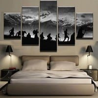 Modular Wall Art Oil Pictures Frame Modern Home Decor 5 Pieces Lord Of The Rings Canvas Painting Movie Posters And Prints PENGDA