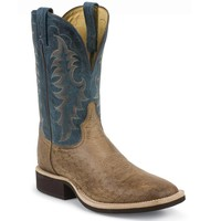 Tony Lama Men's Smooth Ostrich Cowboy Crepe Western Boots