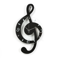 Ashton Sutton Musical Cleff Wall Clock