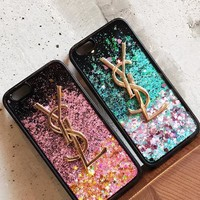 YSL Quicksand glitter phone case shell  for iPhone5s,iphone 6/6s,iphone 6p/ 6splus,iphone 7, iphone7plus