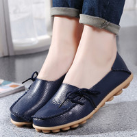 Plus size women shoes fashion soft women flats slip on Spring Autumn women casual shoes Comfort loafers zapatos mujer SDT179