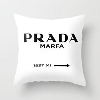 Prada Marfa I Throw Pillow by Stephanie DuBois