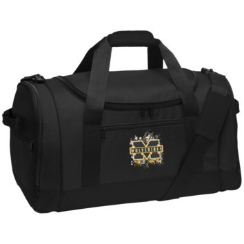Michigan Wolverines Splatter Logo Travel Sports Duffel