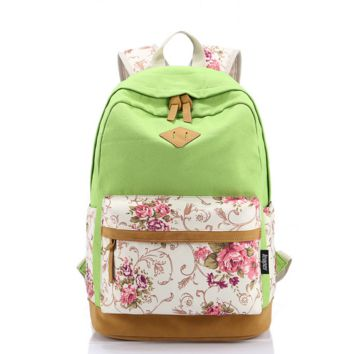 Casual Style Lightweight Canvas Laptop Backpack Cute Travel School College Shoulder Bag/Bookbags/Daypack