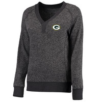 Women's Green Bay Packers Pro Line Charcoal Forest Sweater