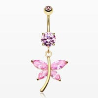 Friendly Butterfly Belly Button RIng