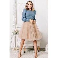 The Princess Diaries Rose Gold Tulle Skirt