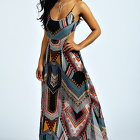 Jenna Oversized Aztec Maxi Dress