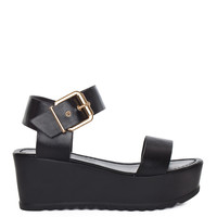 Posh Spice Platform Sandals - Black