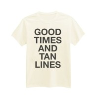 Andre's Unisex Adult's Good Times And Tan Lines - Summer - Hipster - Beach - Wanderlust - Free Spirit T-Shirt