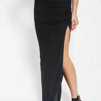 Urban Outfitters - Costa Blanca Ruched Slit Maxi Skirt