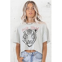 Good Vibes Tiger Graphic Top