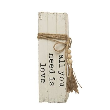 """Wood Block Books - """"All You Need Is Love"""""""